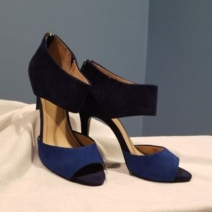 BCBGeneration Blue Heels